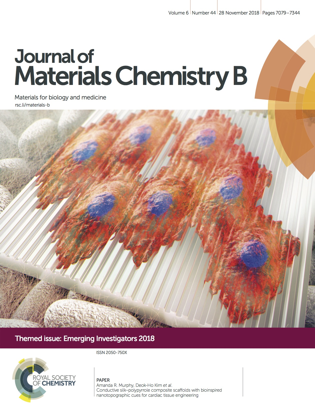 Cover of Journal of Materials Chemistry B