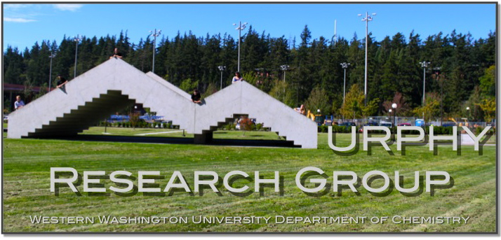 The Stairway sculpture on WWU's communication lawn serves as an M to spell Murphy Research Group