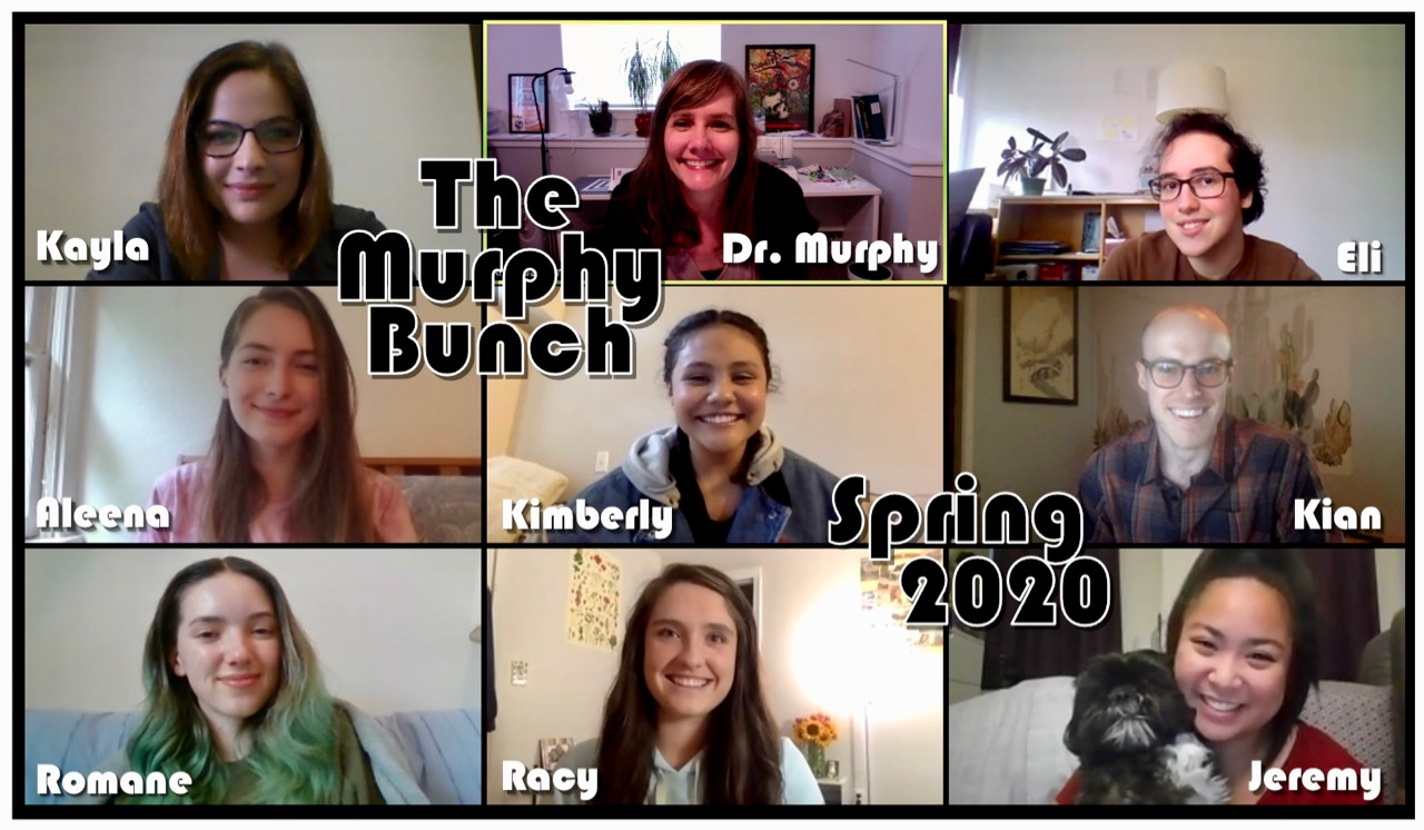 Screenshot of Zoom meeting with current Murphy Group Members